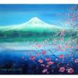 peinture décoration feng-shui printemps sur le lac de l'artiste-peintre ELLHËA
