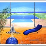 décoration feng-shui et zen : Ambiance bleu peinture de l'artiste Ellhëa - Conseils feng-shui pratique