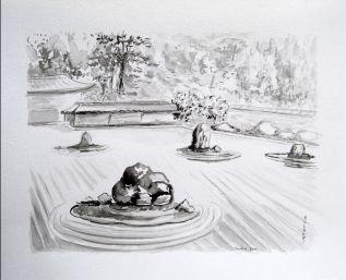 tableaux feng shui bureau peintures zen l 39 encre noire. Black Bedroom Furniture Sets. Home Design Ideas