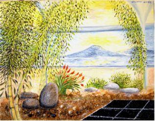 Tableau zen d co peintures zen d co tableau zen d co tableaux d coration zen tableaux huile - Deco jardin zen interieur ...